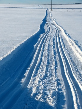 snow trail cross-country skiing