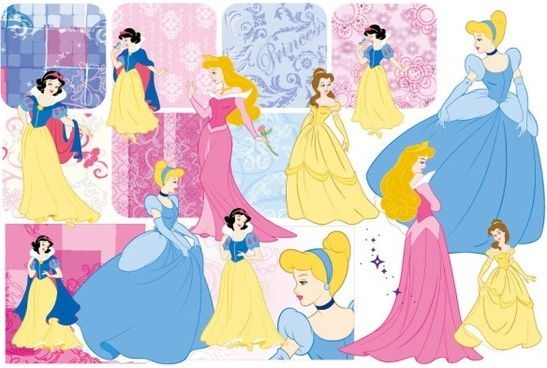 snow white and the pattern vector 2