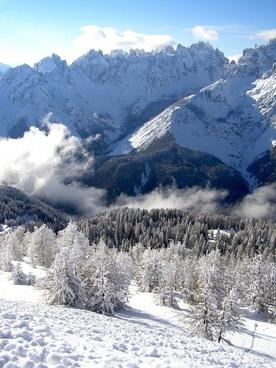snow winter mountain