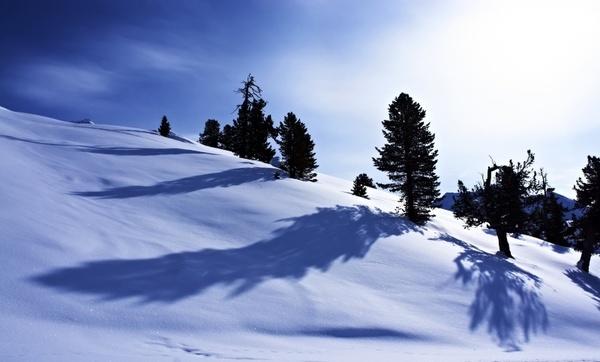 snow winter mountains
