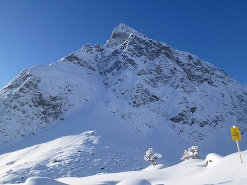snow wintry montafon