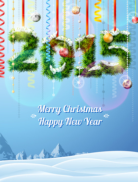 snow with15 holiday xmas vector background