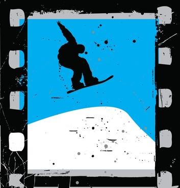 snowboard film vector