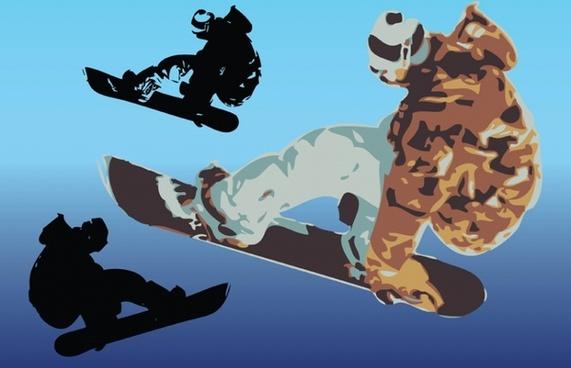 Snowboard Vector Art