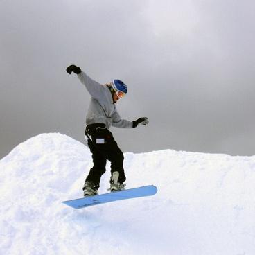 snowboarder winter outdoor activities