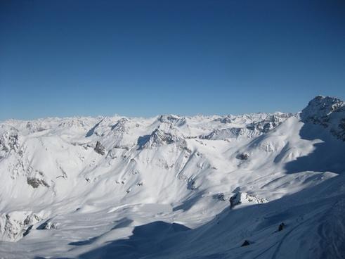 snowcaped mountain scenery nature