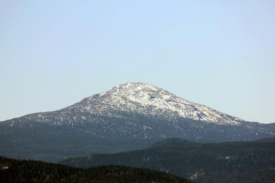 snowed mountain peak in the adirondack mountains new york