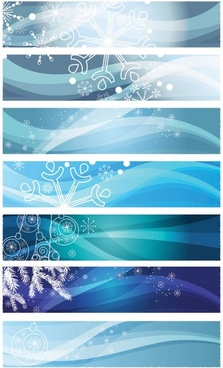 snowflake background banner vector