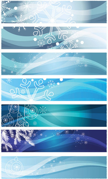 snowflake background banner vector graphic
