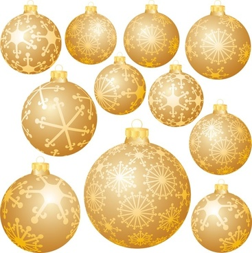 snowflake ball christmas decorations vector