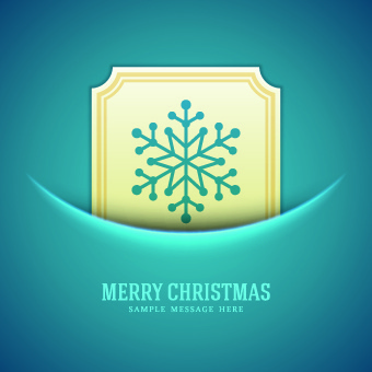 snowflake blue christmas background