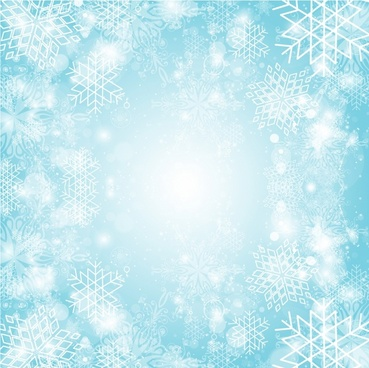Snowflake burst background