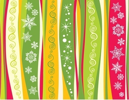 Snowflake Christmas Background Vector Material
