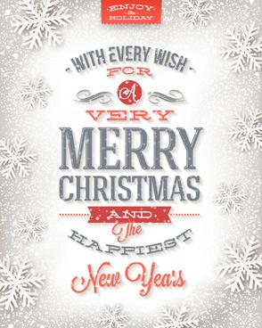 snowflake christmas holiday background vector