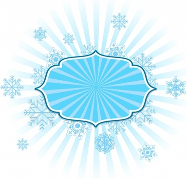 Snowflake Frame in Blue