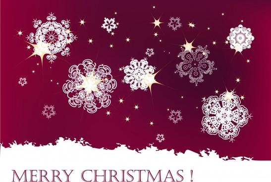 xmas banner sparkling snowflakes decor flat classical design