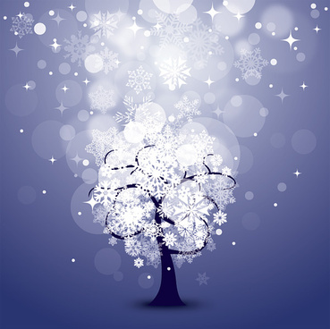 snowing night vector graphic