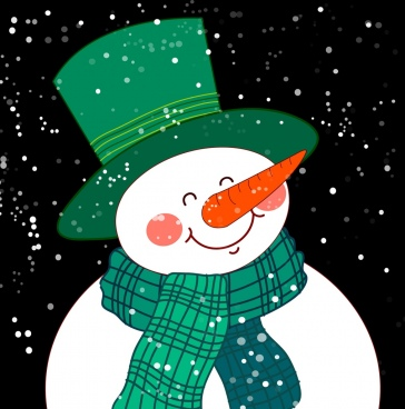 snowman icon cute cartoon design