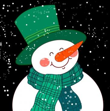 snowman icon cute cartoon design