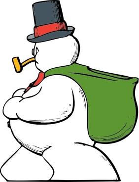Snowman Side View clip art