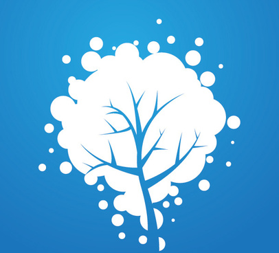 snowy tree vector graphic