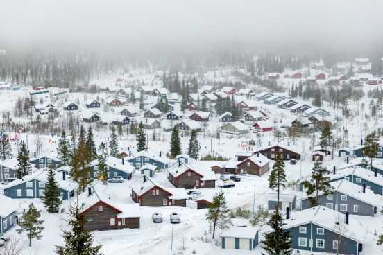 snowy winter village