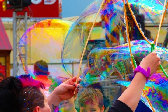 soap bubble colorful heavy going