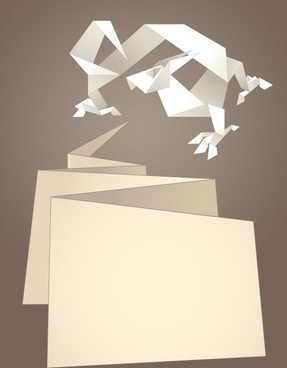 soaring origami vector