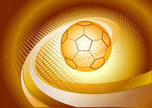 soccer background 3d sparkling yellow sketch