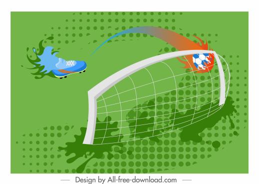 soccer background shoe goal ball sketch motion design