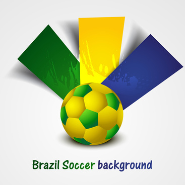 soccer background with brazil colors grunge splash colorful vector
