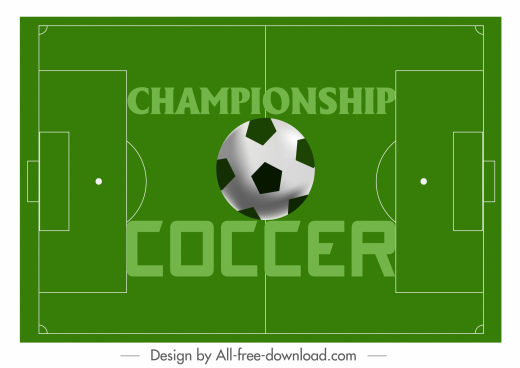soccer banner playground ball decor modern flat sketch