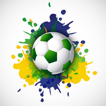 soccer beautiful texture with brazil colors grunge splash background