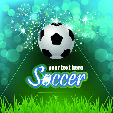 soccer creative poster vector