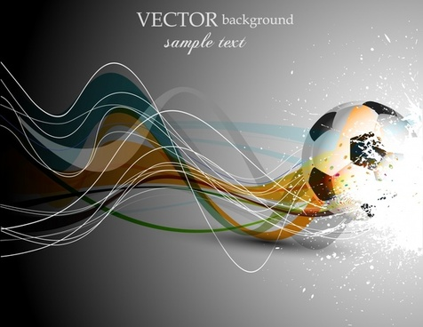 soccer dynamic flow line background vector
