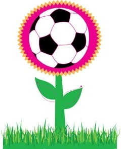 Soccer flower vector