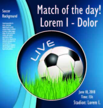 soccer poster design vector set
