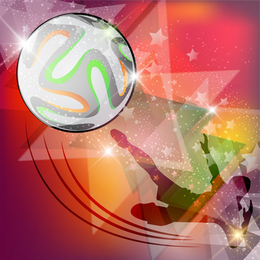 soccer poster with bokeh silhouette player background