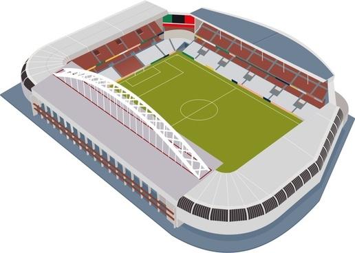 soccer stadium 3d design vector illustration