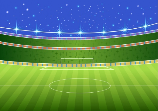 soccer stadium sketch 3d colorful design