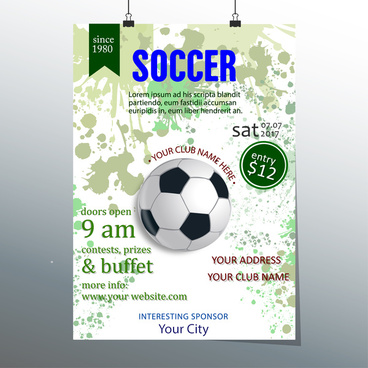soccer ticket vector design with ball illustration
