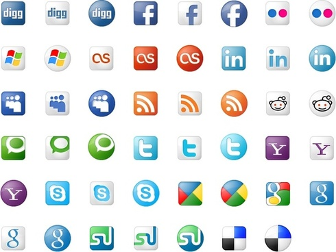 Social Bookmarks Icon Set icons pack