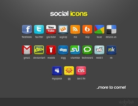 Social Icons Pack icons pack