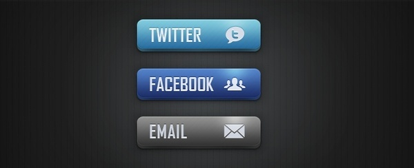 Social Media and Email Buttons