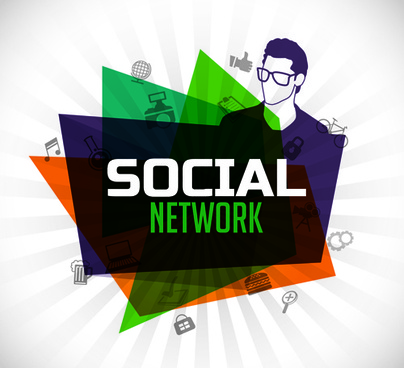 social network and people idea business background