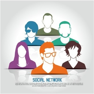 social network business people vector