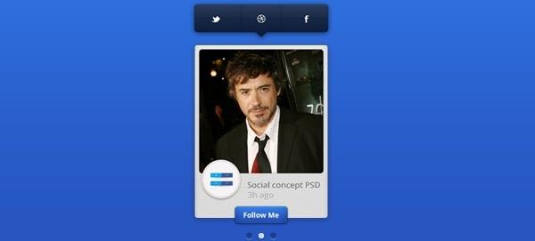 Social Widget Concept