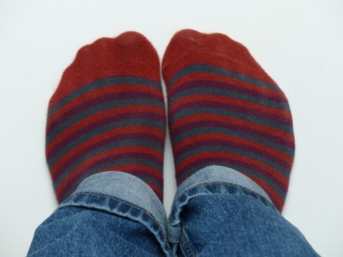 socks stockings red