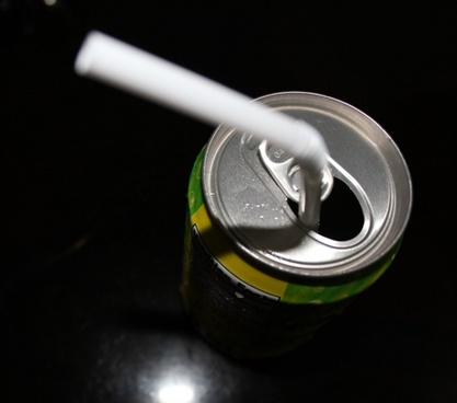 soda and a straw