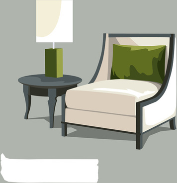 sofas and lamps vector life